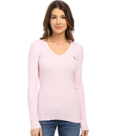 U.S. POLO ASSN. - V-Neck Cable Sweater