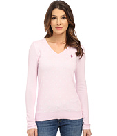 U.S. POLO ASSN. - Polka Dot V-Neck Sweater