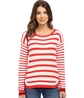 U.S. POLO ASSN. - Mixed Stripe Hi-Lo Hem Sweater