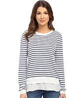 U.S. POLO ASSN. - Stripe Woven Hem Sweater