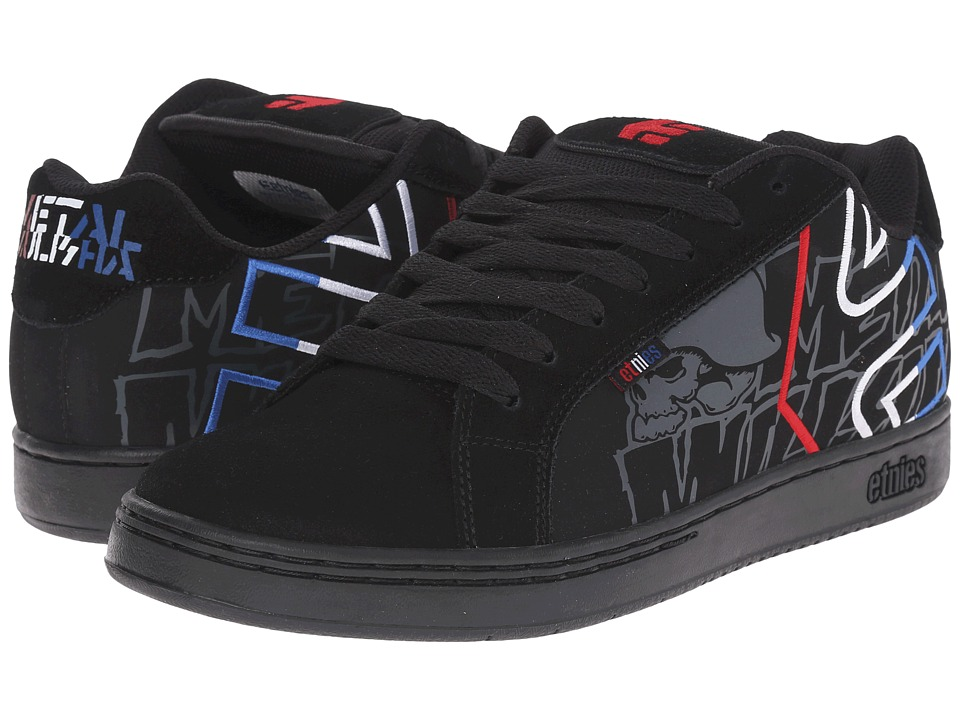 etnies - Fader x Metal Mulisha (Black/Blue/White) Mens Skate Shoes