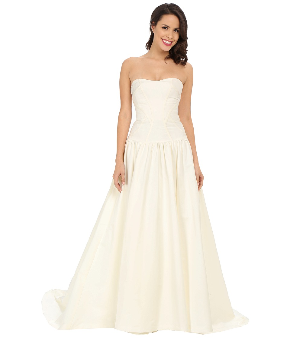 Nicole Miller - Laurel Silk Faille Bridal Gown (Antique White) Womens Dress