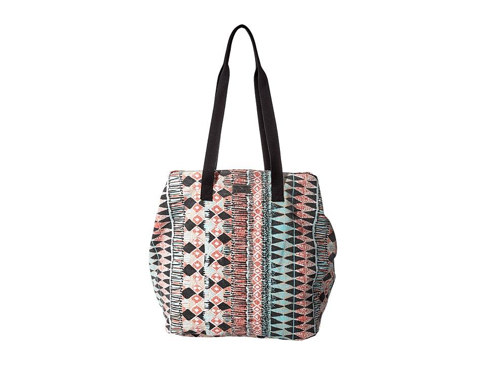 Volcom - Print Paradise Tote (Grapefruit) Tote Handbags