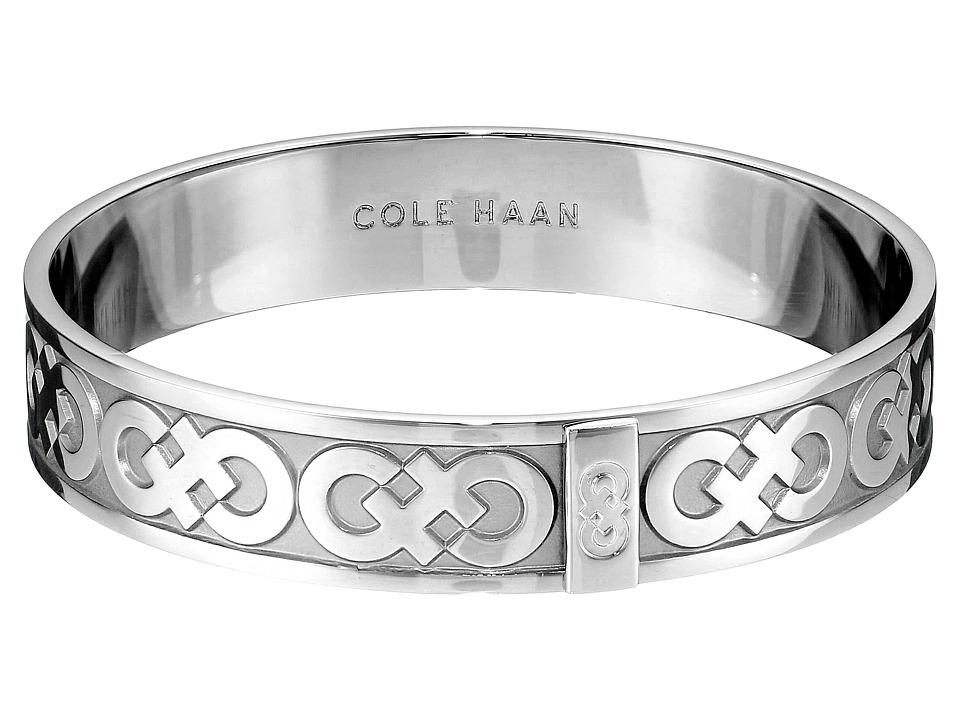 Cole Haan Logo Metal Bangle Bracelet Light Rhodium Bracelet