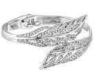 Pave Feathers Bypass Hinge Bracelet