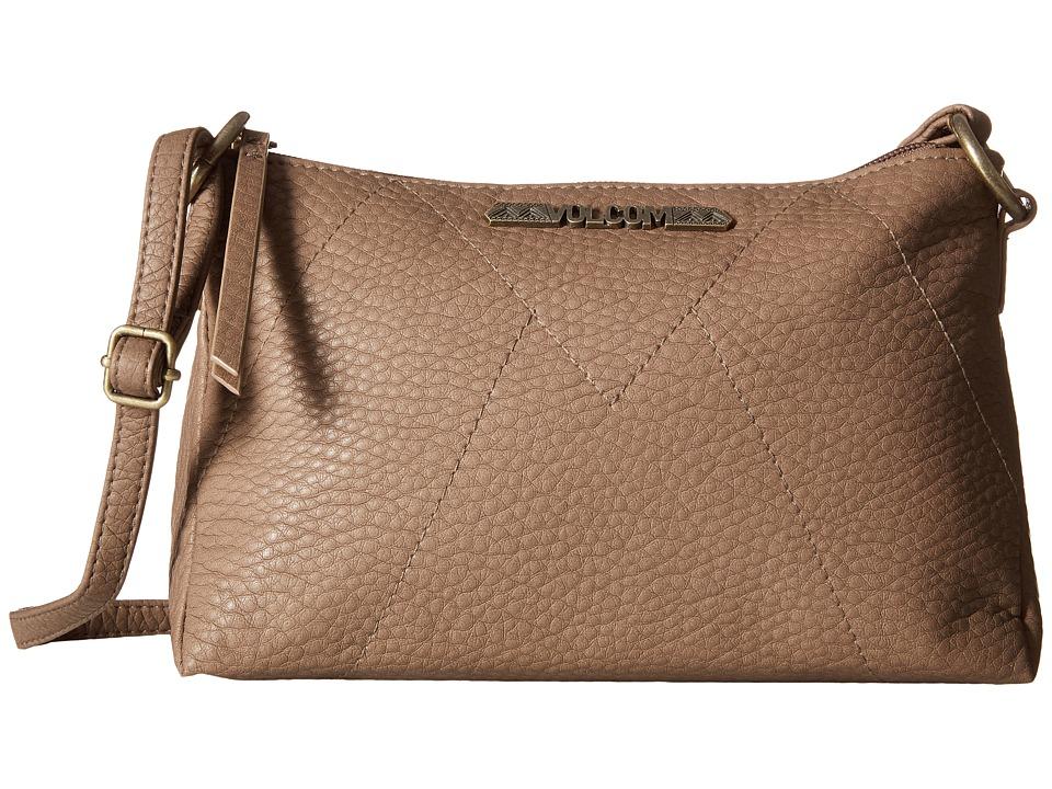 Volcom Pinky Swear Shoulder Bag Vintage Brown Shoulder Handbags