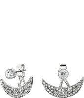 GUESS - Mini Crescent Stud Jacket Earrings
