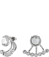 GUESS - Stone Stud Earrings w/ Mini Ear Jacket