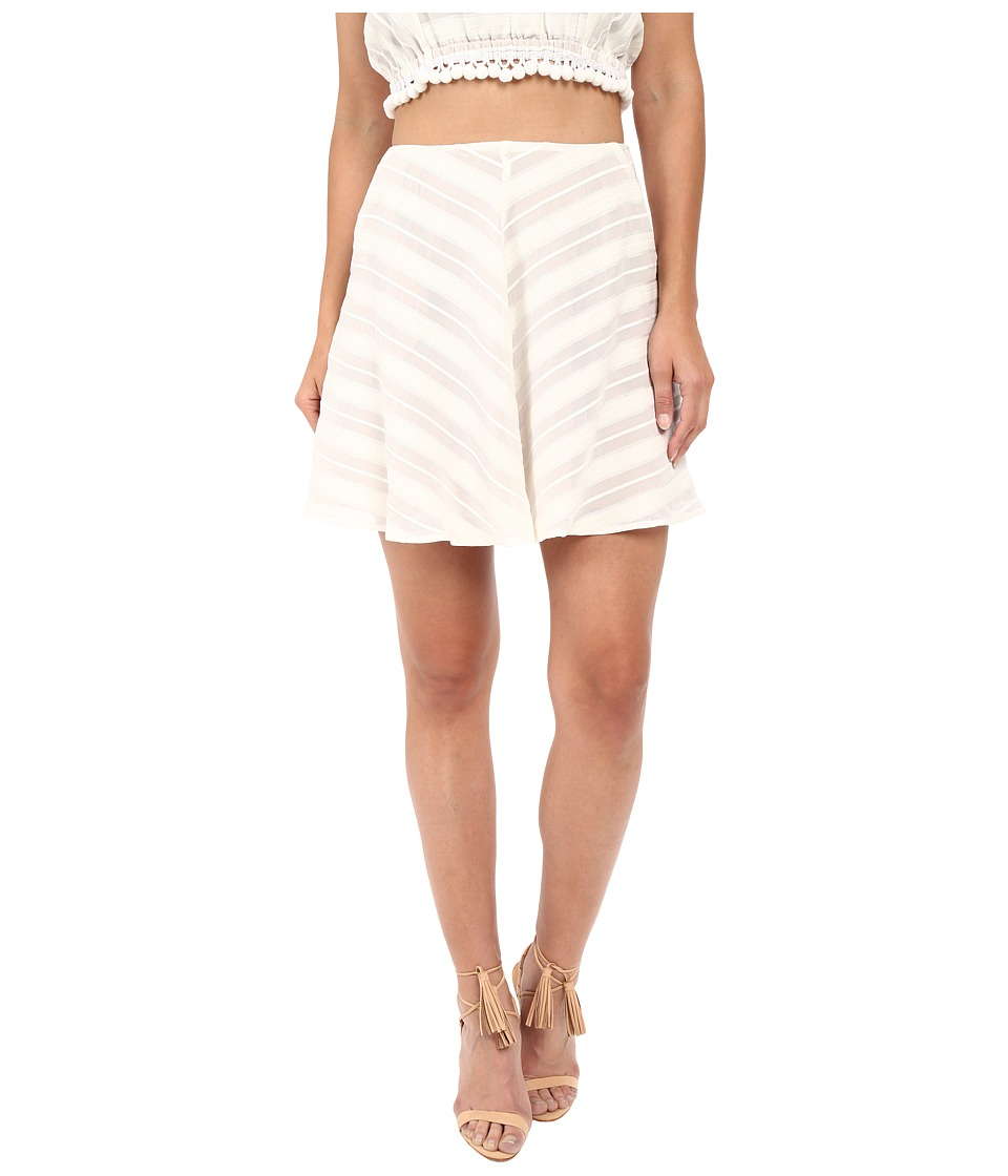 For Love and Lemons Alessandra Mini Skirt White Womens Skirt