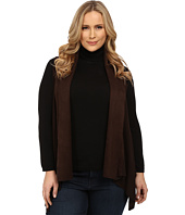 Karen Kane Plus - Plus Size Faux Suede Collar Vest