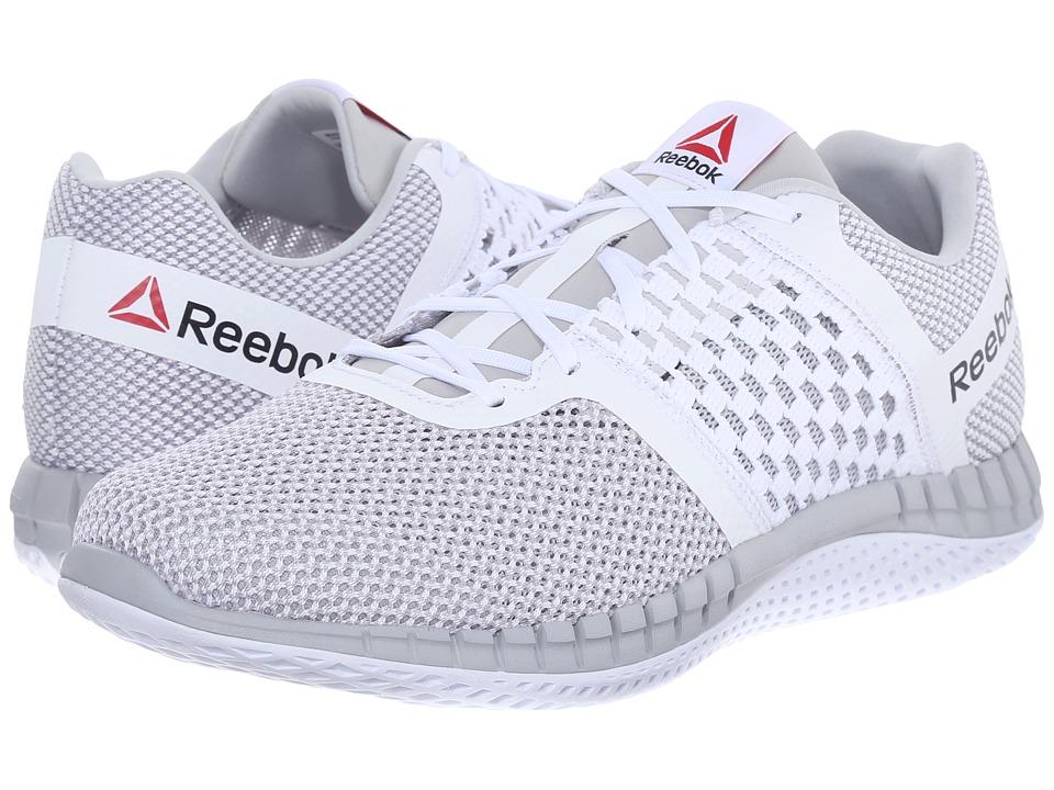 Reebok - ZPrint Run (White/Steel) Mens Running Shoes
