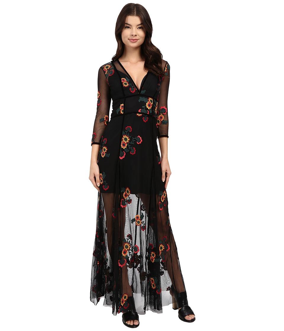 For Love and Lemons Elenora Maxi Dress Black Womens Dress