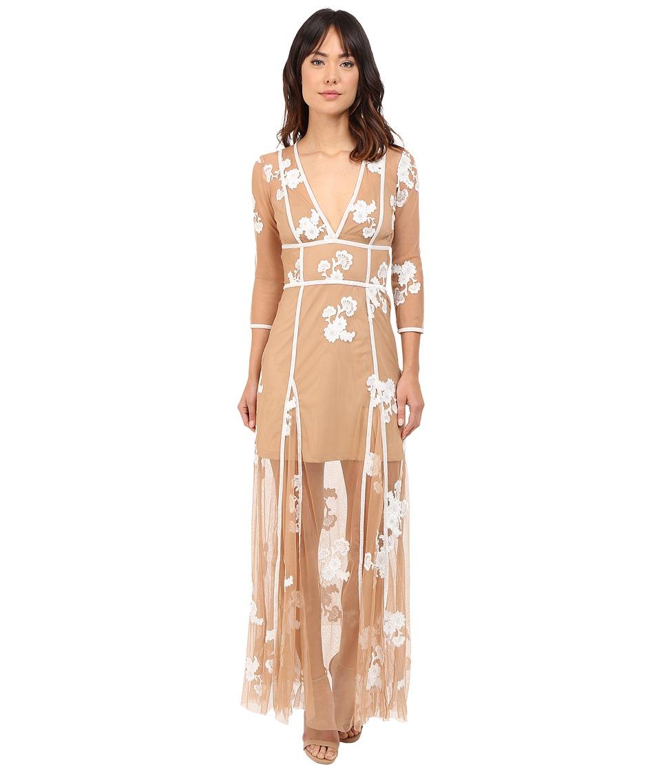 For Love and Lemons Elenora Maxi Dress White/Nude Womens Dress