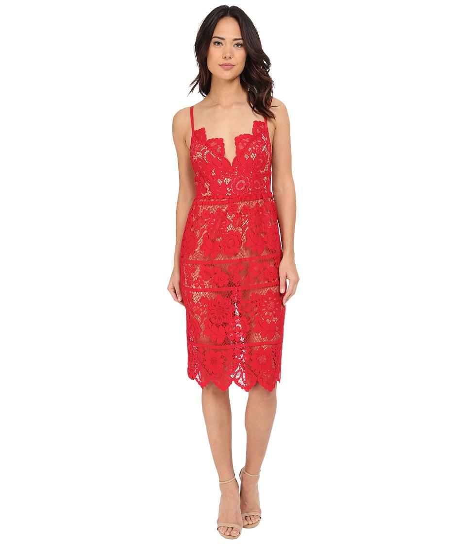 For Love and Lemons Gianna Dress Hot Red Womens Dress