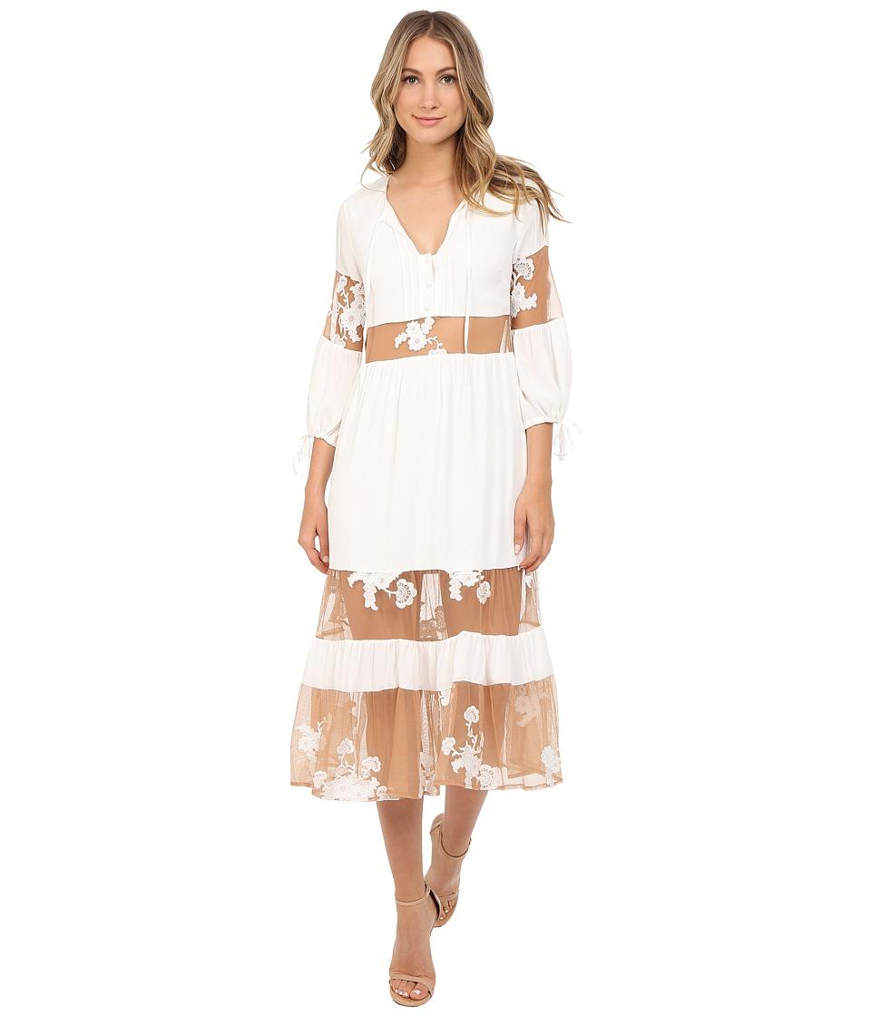 For Love and Lemons Eva Midi Dress White Womens Dress