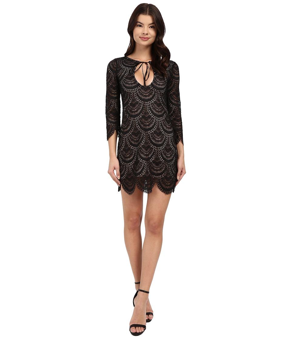 For Love and Lemons Rosalita Mini Dress Black Womens Dress