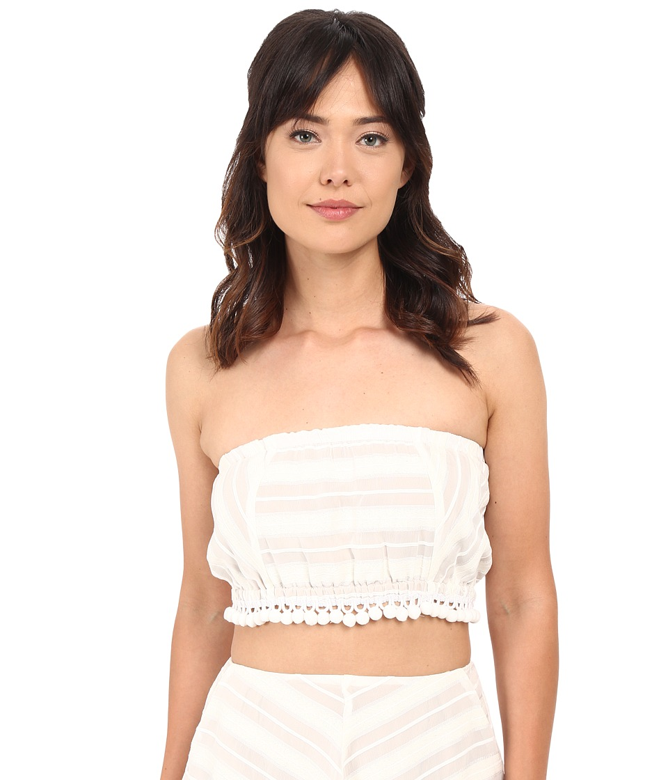 For Love and Lemons Alessandra Crop White Womens Sleeveless