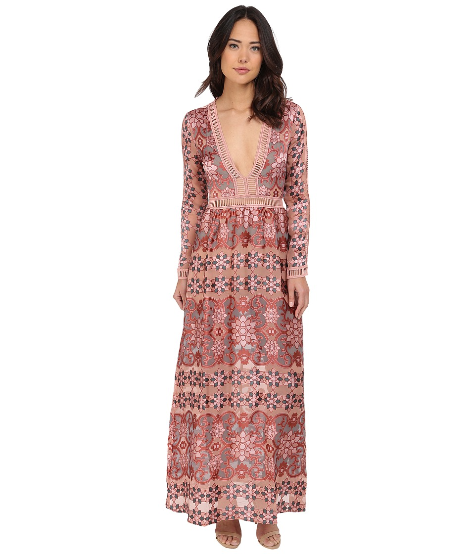 For Love and Lemons Juliet Maxi Dress Maroon Womens Dress