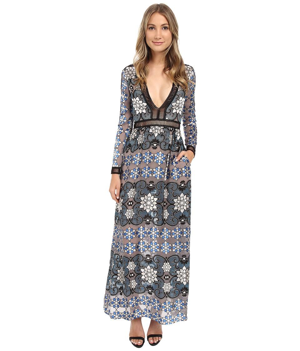 For Love and Lemons Juliet Maxi Dress Jade Womens Dress
