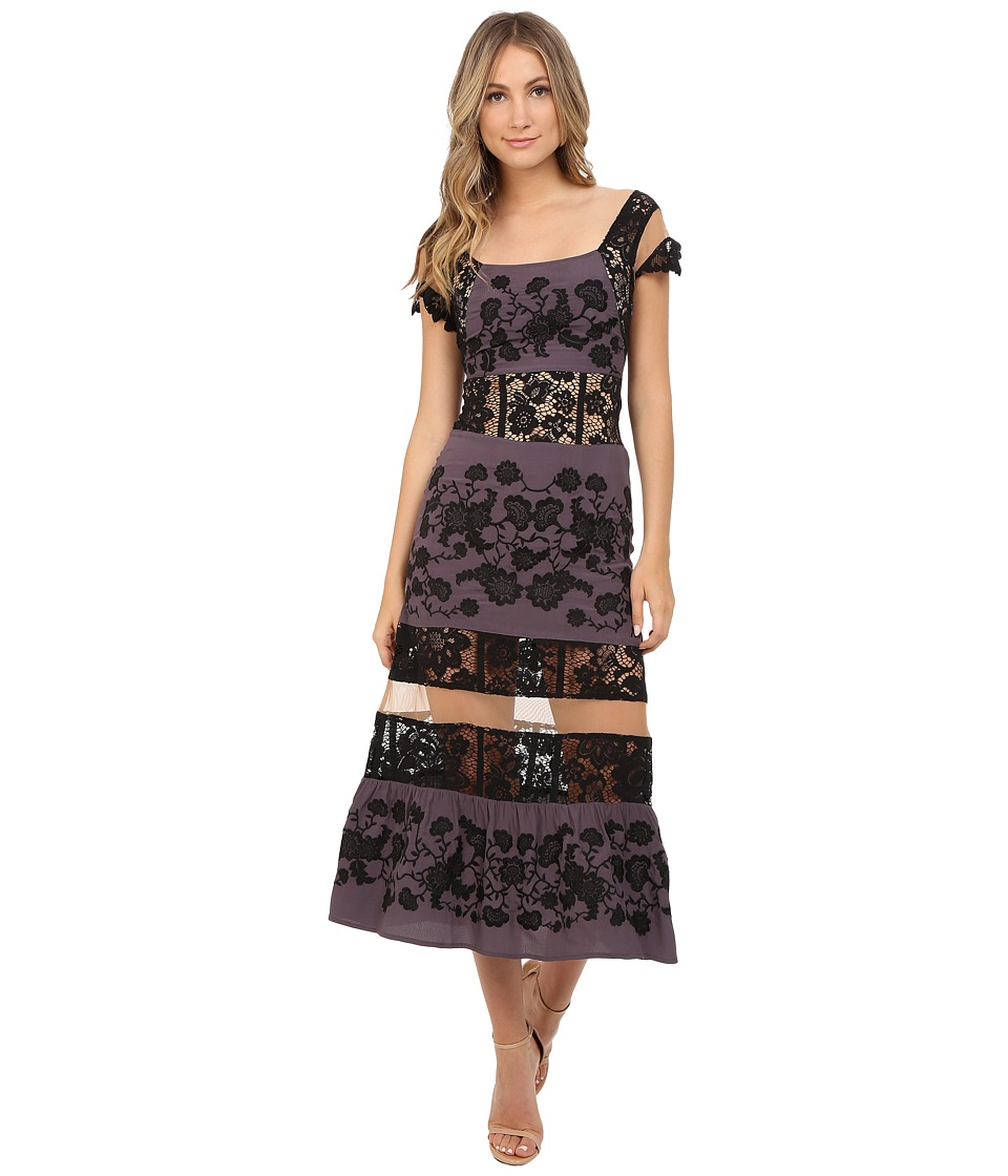 For Love and Lemons Cecelia Dress Dark Grey Womens Dress