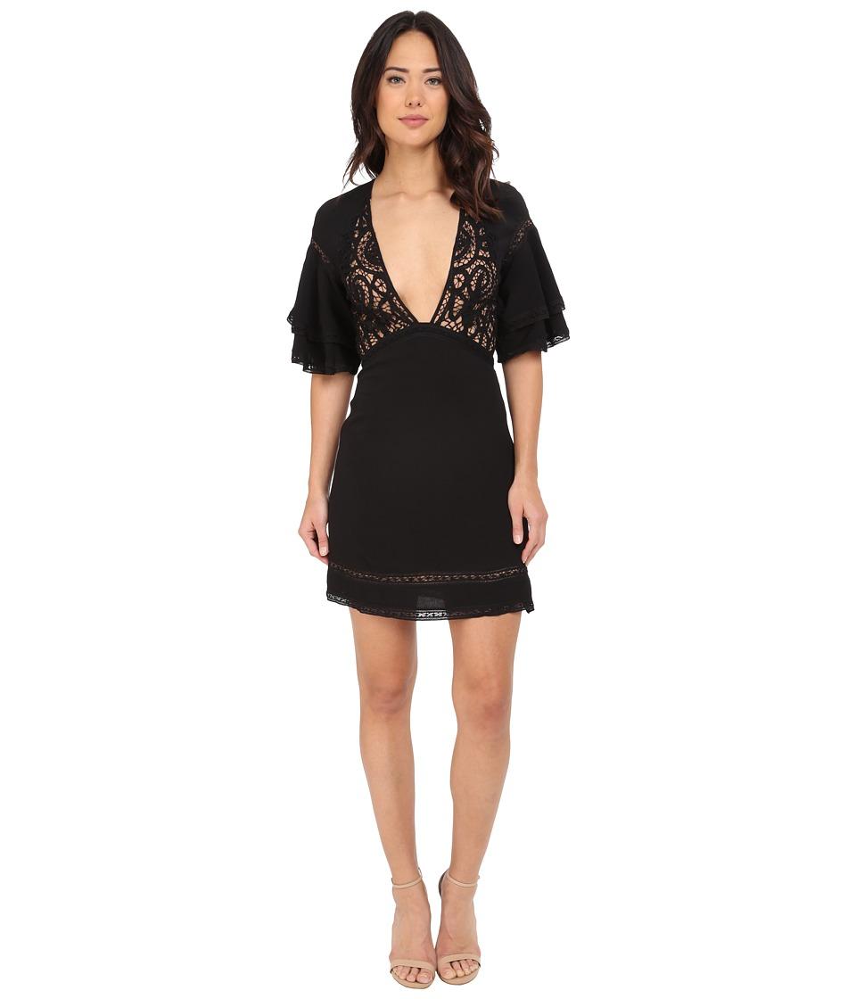 For Love and Lemons Carmine Mini Dress Black Womens Dress