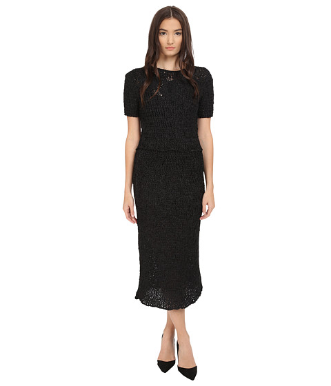 Zac Posen Silk Crochet Short Sleeve Dress