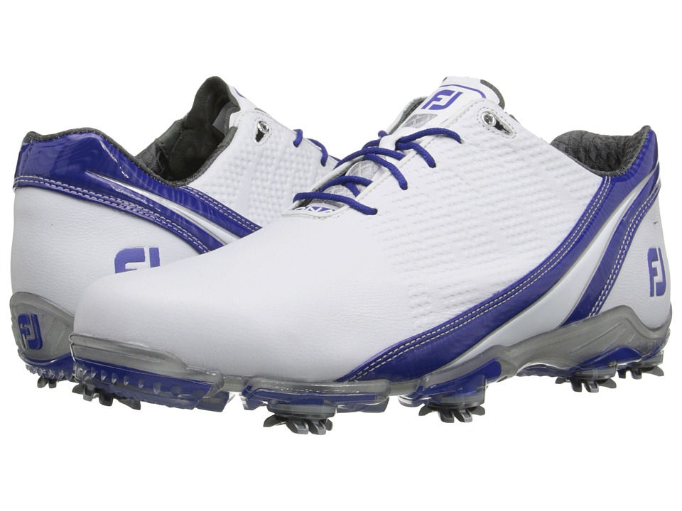 FootJoy DNA 2.0 White/Royal Blue Mens Golf Shoes