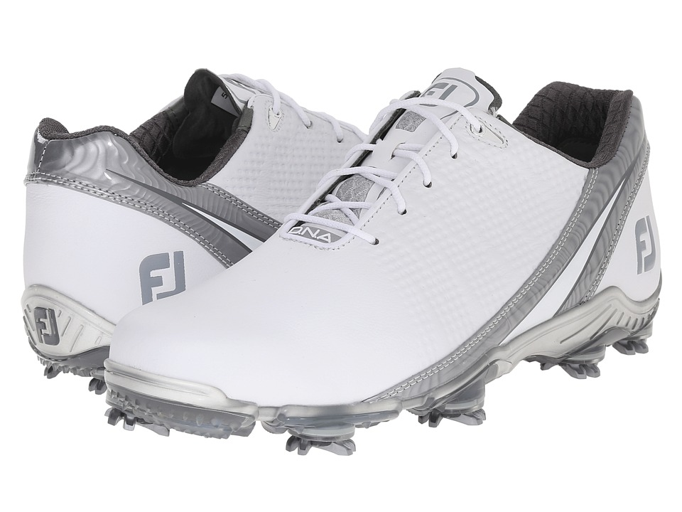 FootJoy DNA 2.0 Whtie/Silver Mens Golf Shoes