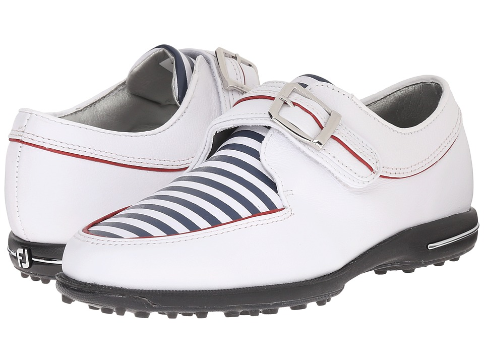 FootJoy - Tailored Collection (White/Navy Stripes) Womens Golf Shoes