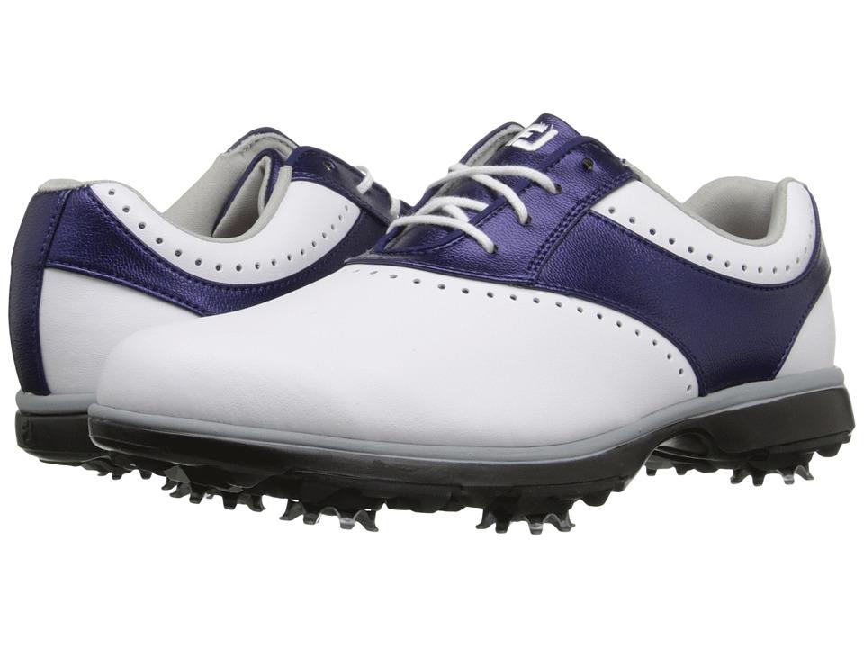 FootJoy - eMerge (White/Navy Linen) Womens Golf Shoes