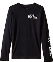 Hurley Kids - Original Vintage Long Sleeve Tee (Big Kids)