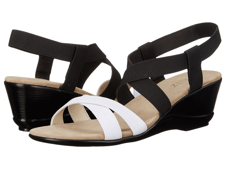Vivanz Candice Black/White Womens Dress Sandals