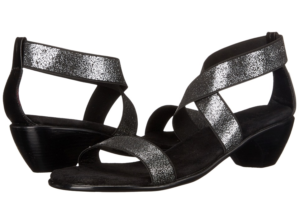 Vivanz Miranda Black Brush Womens Dress Sandals