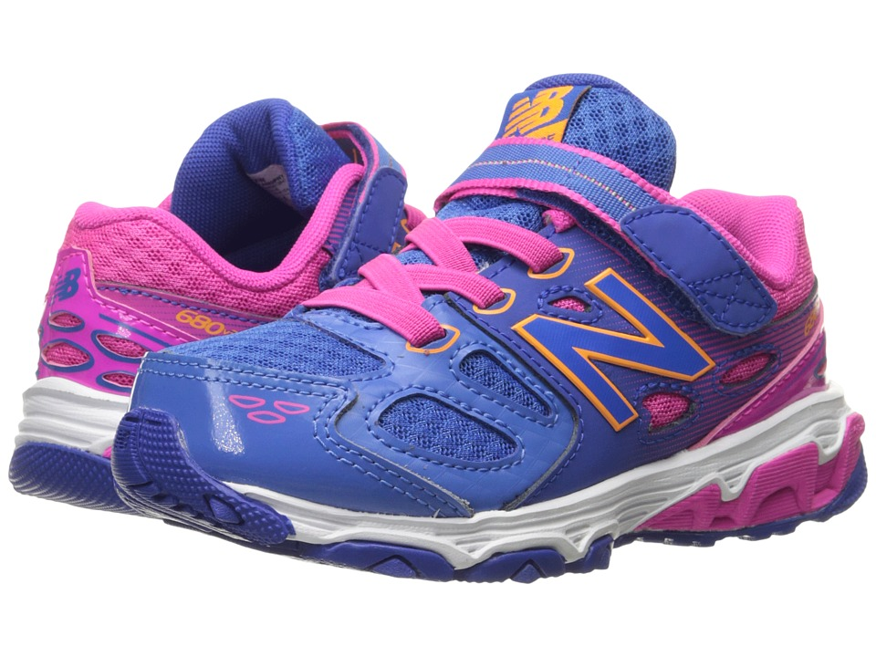 New Balance Kids - KA680v3 (Little Kid/Big Kid) (Blue/Pink) Girls Shoes