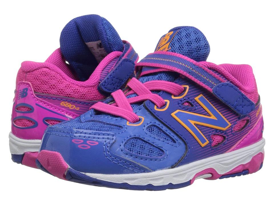 New Balance Kids - KA680v3 (Infant/Toddler) (Blue/Pink) Girls Shoes