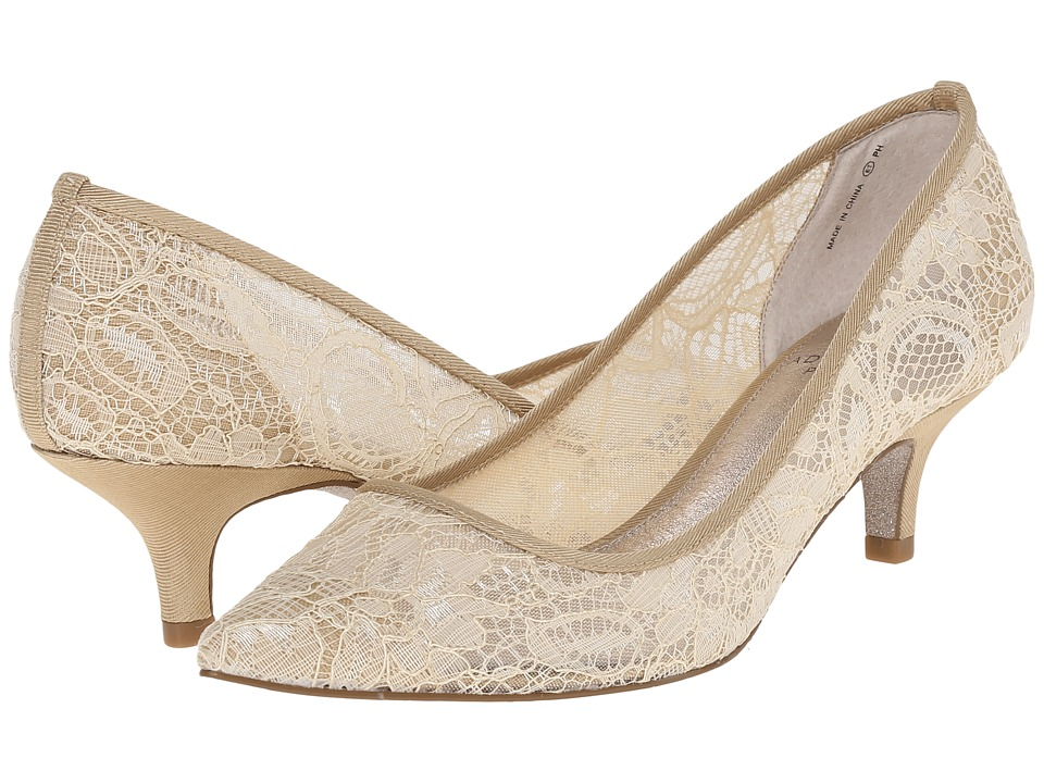Vintage Inspired Wedding Dresses Adrianna Papell - Lois Lace Latte 1890 Lace Womens 1-2 inch heel Shoes $118.95 AT vintagedancer.com
