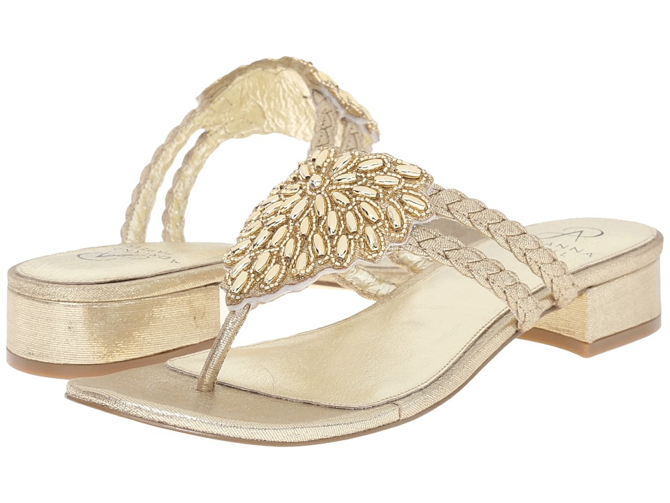 Adrianna Papell Delta Gold Kaftan Womens Dress Sandals