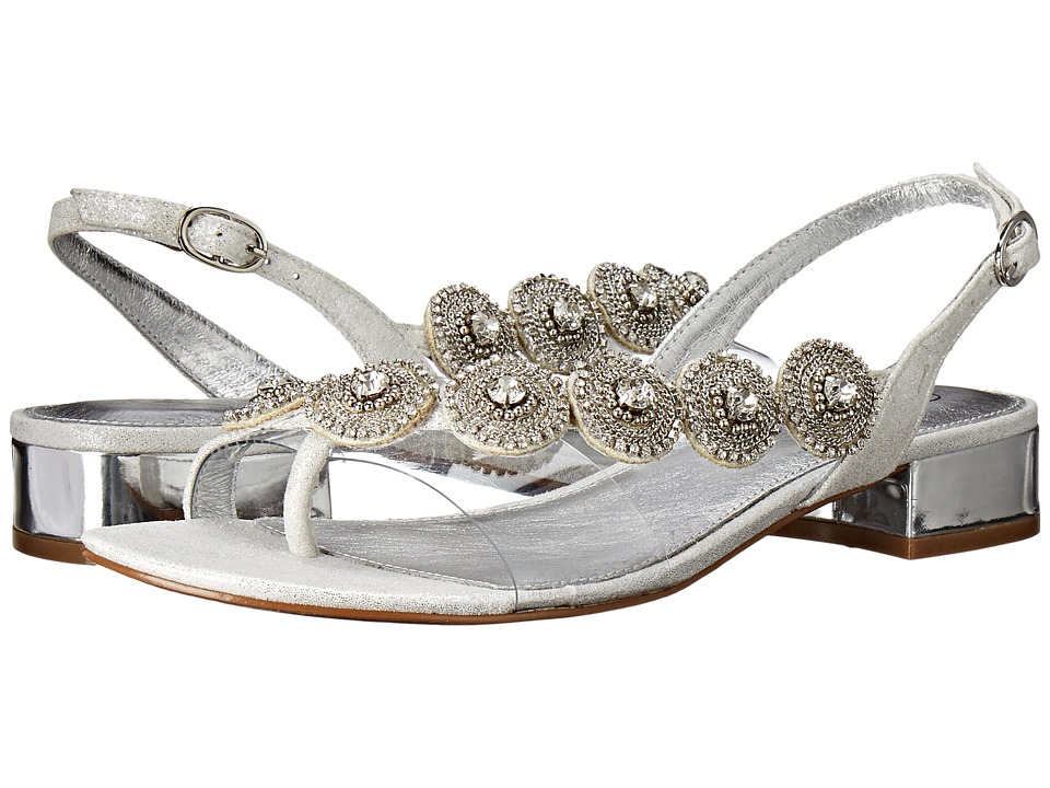 Adrianna Papell Daisy Silver Mosaic Lame Womens Dress Sandals