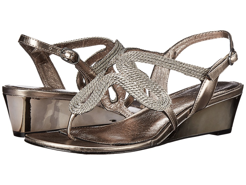 Adrianna Papell Carli Gunmetal Womens Wedge Shoes