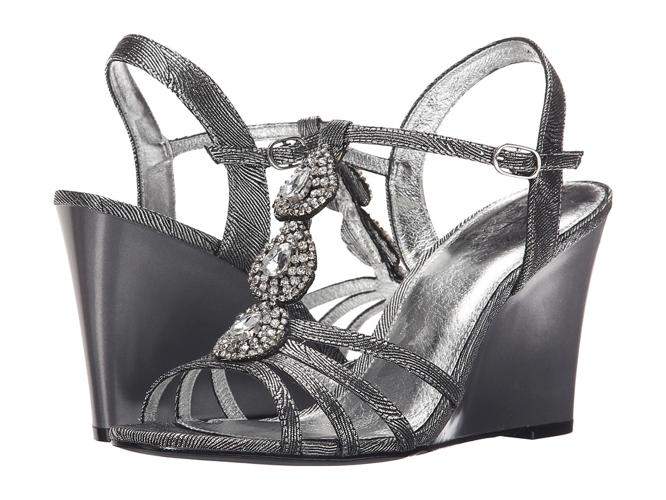Adrianna Papell Kristen Pewter Wave Metallic Womens Shoes