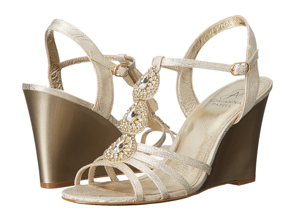 Adrianna Papell Kristen Pearl Wave Metallic Womens Shoes