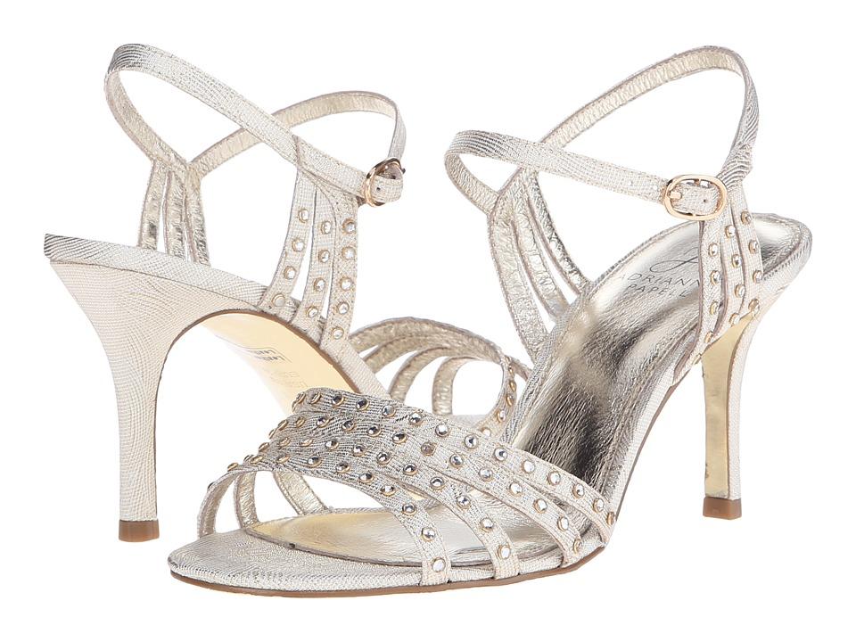 Adrianna Papell Vonia Pearl Wave Metallic High Heels