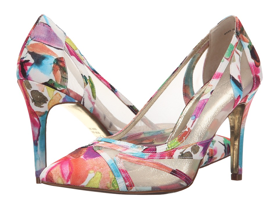 Adrianna Papell Amal Fuchsia Kensington Canvas High Heels