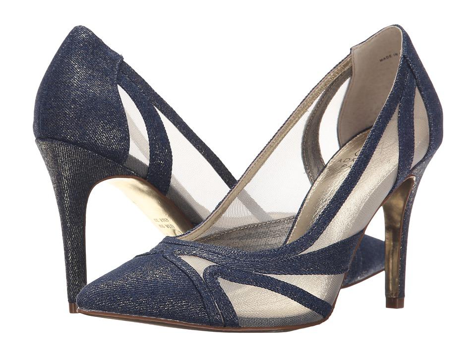Adrianna Papell Amal Platino Wash Zinc Denim High Heels