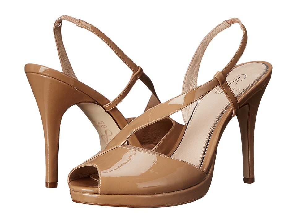 Adrianna Papell Gemini Nude Patent Leather High Heels
