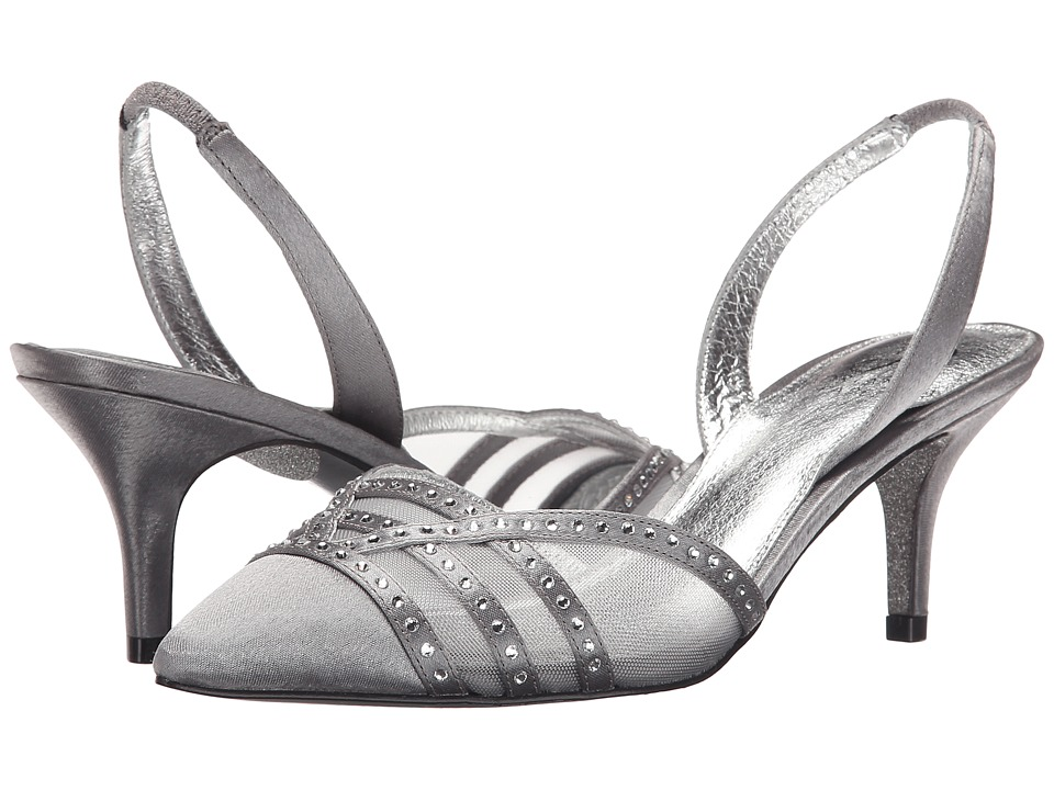 Adrianna Papell Hestia Pewter Sheena Satin High Heels