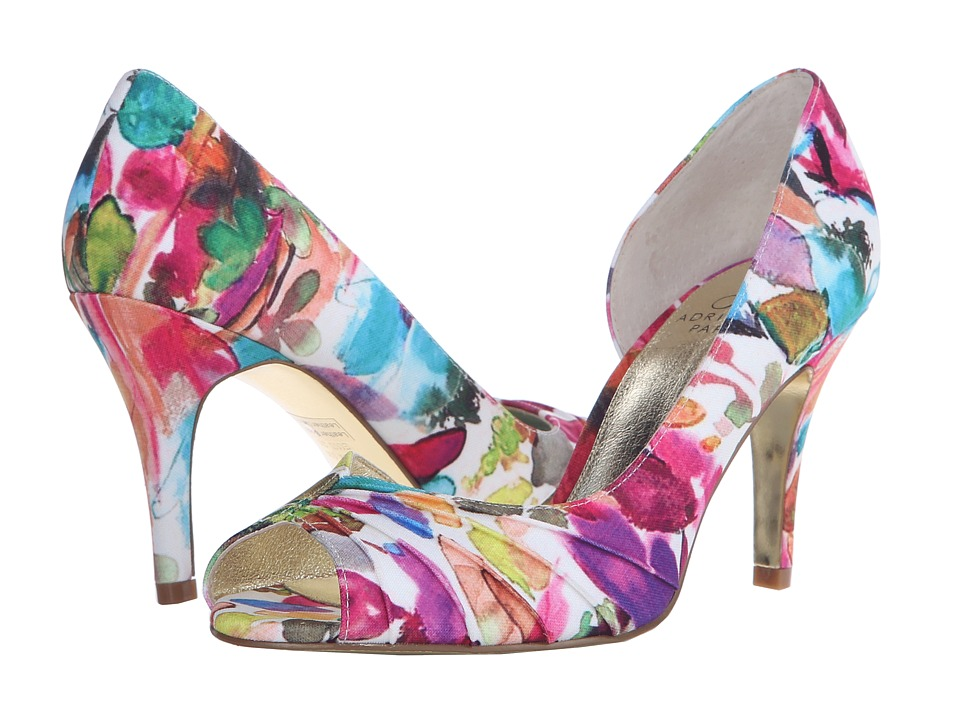 Adrianna Papell Flynn Fuchsia Kensington Print High Heels