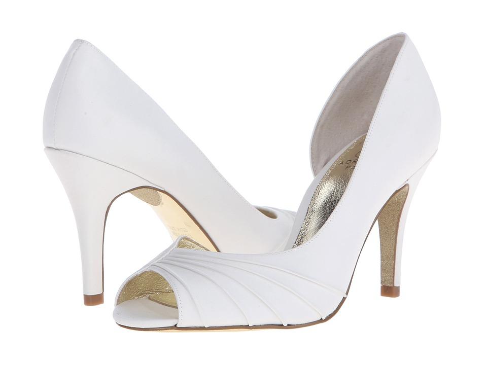 Adrianna Papell Flynn Ivory Classic Satin High Heels