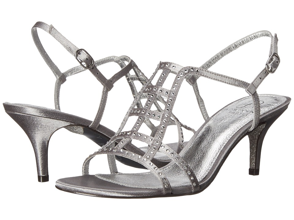 Adrianna Papell Amari Pewter Sheena Satin High Heels