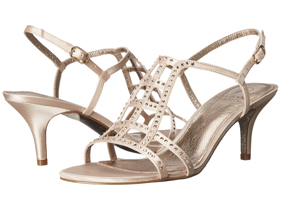 Adrianna Papell Amari Light Sand Lux Satin High Heels